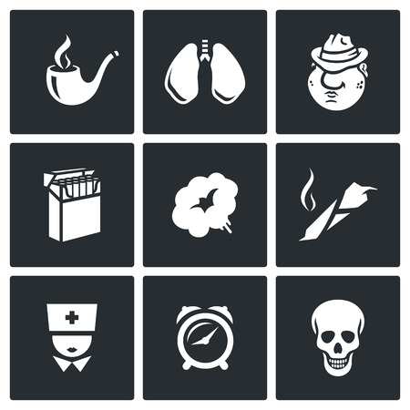 Vector Isolated Flat Icons collection on a black background for design Illusztráció