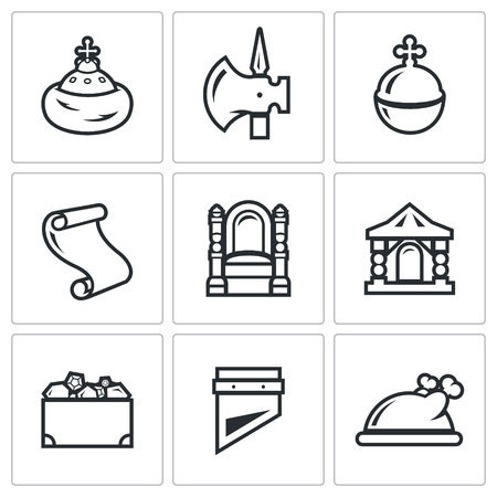 Vector Isolated Flat Icons collection on a white background for design
