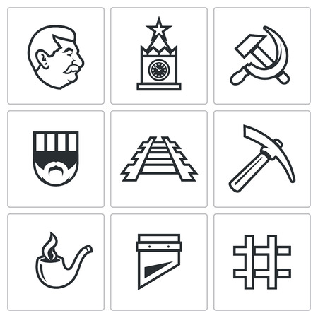 stalin: Vector Isolated Flat Icons collection on a white background for design