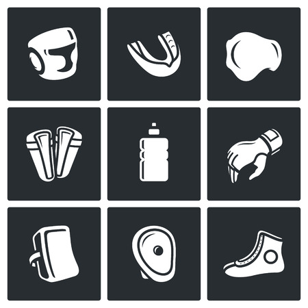 groin: Vector Isolated Flat Icons collection on a black background for design Illustration