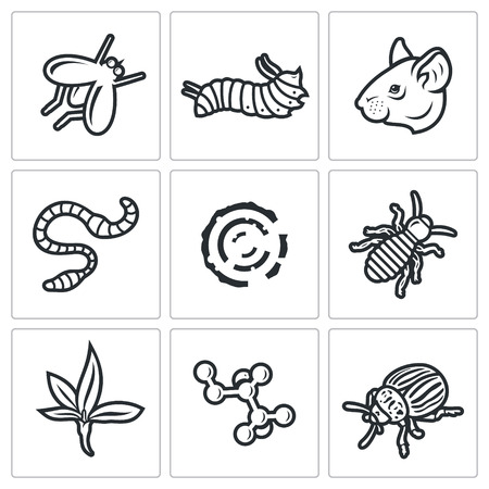 dung: Vector Isolated Flat Icons collection on a white background for design