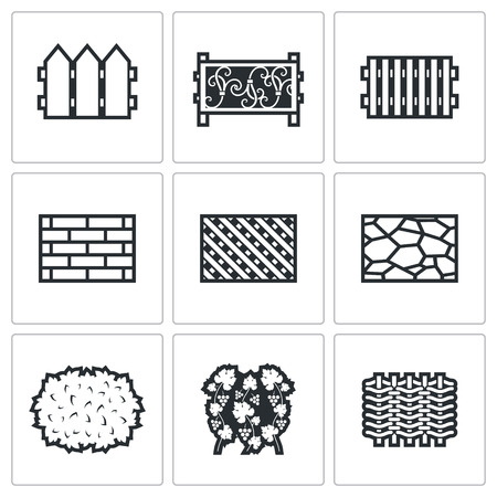 shingles: Vector Isolated Flat Icons collection on a white background for design