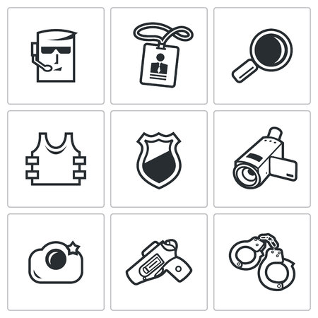 congress: Vector Isolated Flat Icons collection on a white background for design
