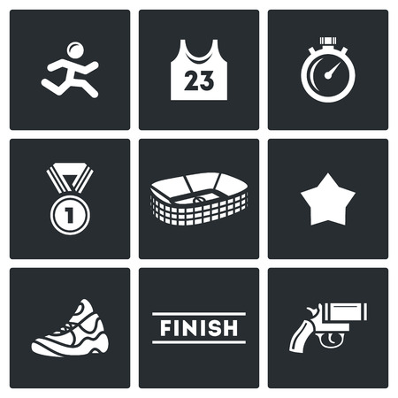construction icons: Vector Isolated Flat Icons collection on a black background for design Illustration