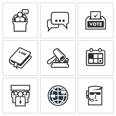thesis: Vector Isolated Flat Icons collection on a white background for design