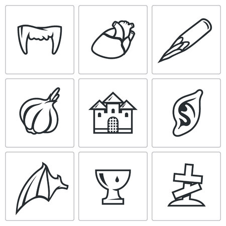 exile: Vector Isolated Flat Icons collection on a white background for design