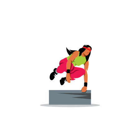 youth: Free running, youth, sport and lifestyle on a white background