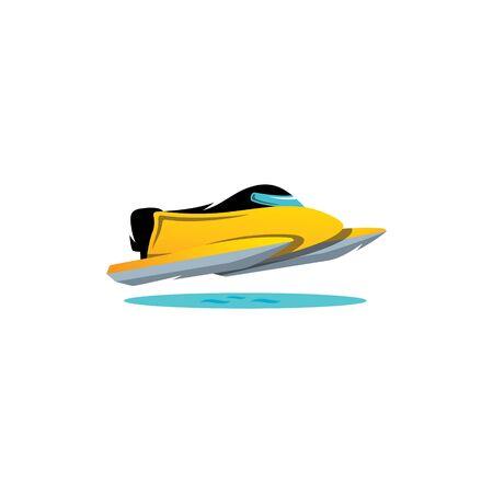 speedboat: Speed water races speedboat on a white background