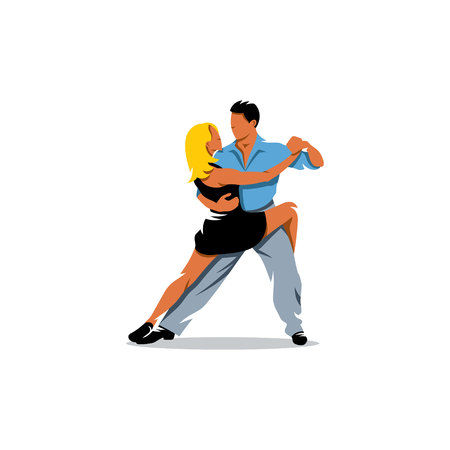 threw: The woman threw her leg over the other partner in the dance.