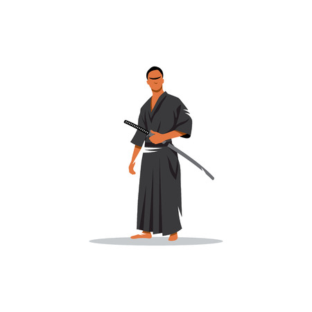 representative: The representative of the martial arts weapons on a white background