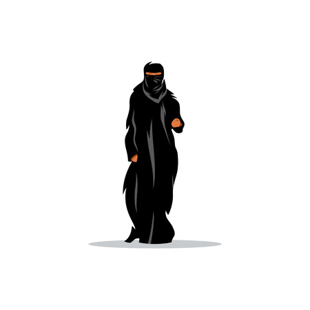 arab adult: Traditional womens clothing in the Middle East.