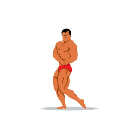 applicant: Athletic sports man on a white background Illustration