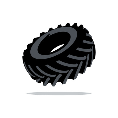 tire tread: Black Tire tread Isolated on a White Background