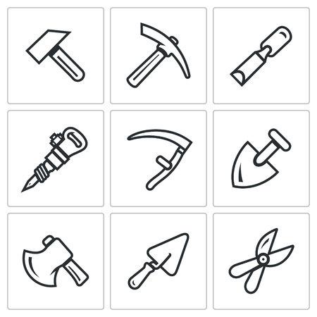 pruner: Hammer, Kirk, Chisel, Plugger, Scythe, Shovel, Axe, Trowel, Pruner.