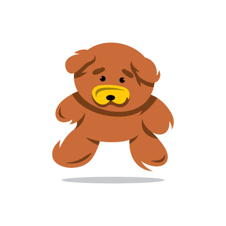 one of a kind: Brown Toy Bear Isolated on a White Background