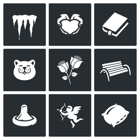 libertine: Icicles, Heart, Book, Cat, Rose, Bench, Condom, Cupid, Pillow