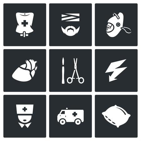 regeneration: Pipette, Disabled, Oxygen, Organ, Surgery tools, Electroshock, Doctor, Transport, Hospital Bed.
