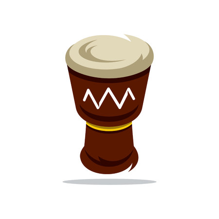 djembe: Colorful Djembe Isolated on a White Background