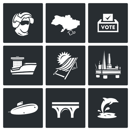 airborn: Commandos, Territory, Referendum, Ship, Beach, Industry, Weaponry, Kerch Bridge, Fauna.