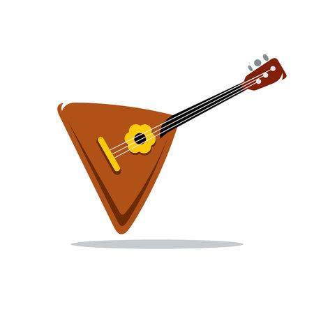 balalaika: Folk musical Instrument Balalaika Isolated on a White Background