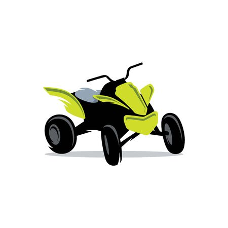 atv: Transport off-road on four wheels Isolated on a White Background
