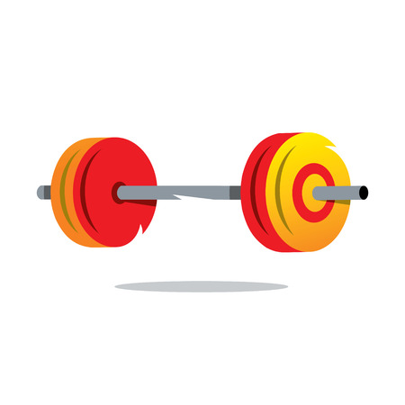 the attribute: Attribute weightlifter, Barbell Isolated on a White Background