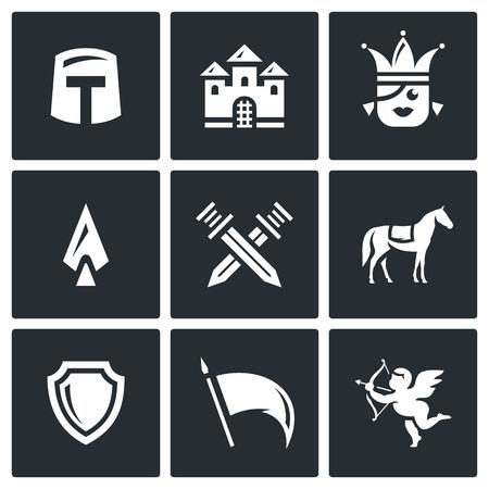 honour guard: Helmet, Building, Girl, Spear, Crossed Swords, Animal, Shield, Flag, Cupid