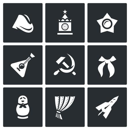 oktober: Symbols of Russia. Historic building, event, souvenir, ideology, music instrument, industry
