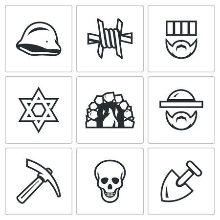 seconda guerra mondiale: Shoah durante la Seconda Guerra Mondiale. simboli di raccolta