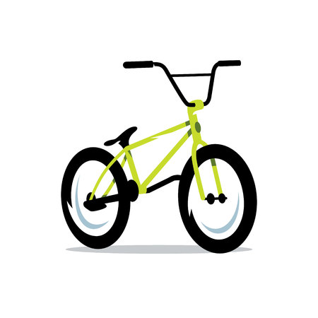 Stylish green sports bike Isolated on a White Background