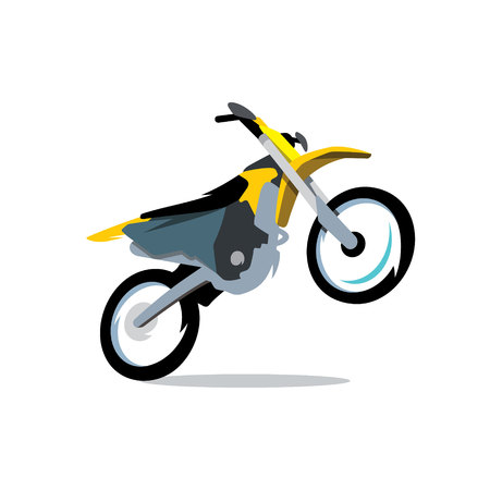 supercross: Motocross off-road driving Isolated on a White Background Illustration