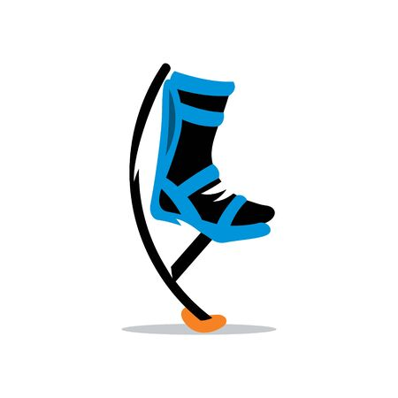 Jumping boots isolated on a white background  イラスト・ベクター素材