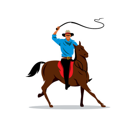 whip: Horse Rider waving his whip. Isolated on a white background