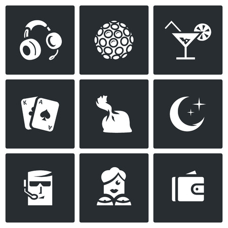dose: Headphones, Color music, Cocktail, Maps, Dose, Crescent, Man, Woman, Purse.