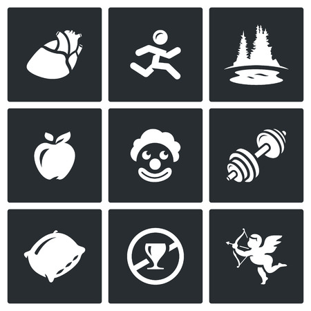 long recovery: Heart, Man, Lake, Forest, Apple, Clown, Barbell, Pillow, Prohibition Alcohol, Cupid