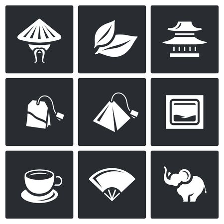 brewing: Chinese, Plant, House, Tea, Brewing, Fan, Animal Illustration