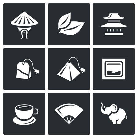 tea plantation: Chinese, Plant, House, Tea, Brewing, Fan, Animal Illustration