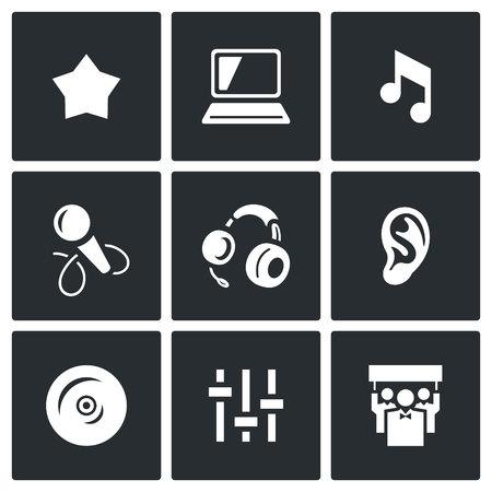 spectator: Star, Notebook, Note, Microphone, Headphone, Ear, CD, Mixer, Spectator