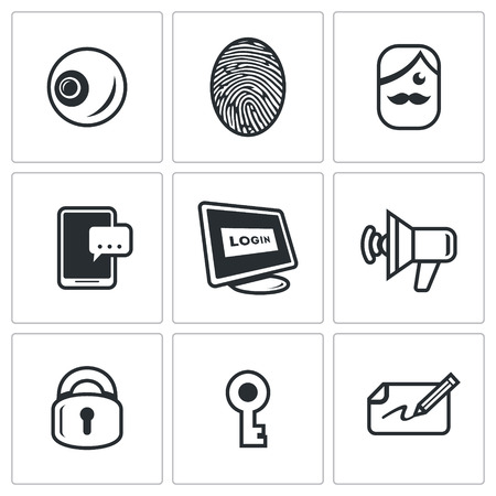 retinal: Eye, Finger, Holder, Smartphone, Computer, Speaker, Lock, Key, Autograph