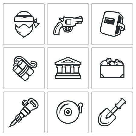 plugger: Robber, Gun, Mask, Dynamite, Building, Chest, Plugger, Siren, Shovel