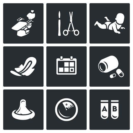 gestational: Armchair, Scalpel, Scissor, Child, Laying, Calendar, Pills, Condom, Ultrasound, Tube