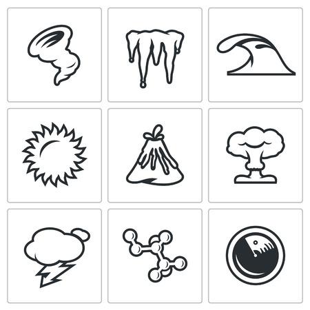 cataclysm: Hurricane, Icicles, Wave, Sun, Volcanoe, Nuclear Explosion, Lightning, Bacteria, Radar