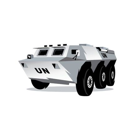 Wheeled armored vehicles. Isolated on a white background