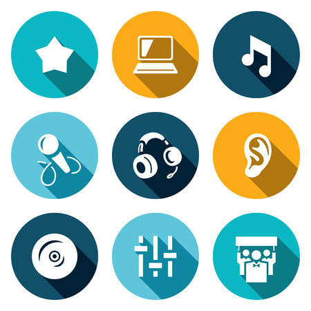 spectator: Star, Notebook, Note, Microphone Headphone Ear CD Mixer Spectator