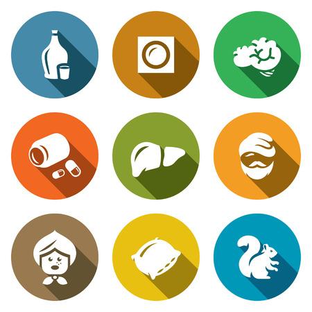 alcoholismo: El alcoholismo y las consecuencias de la recepción de las bebidas alcohólicas Vectores