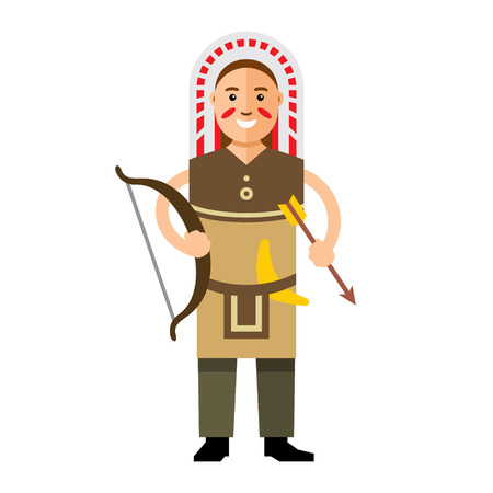 Archer tribe. Isolated on a white background