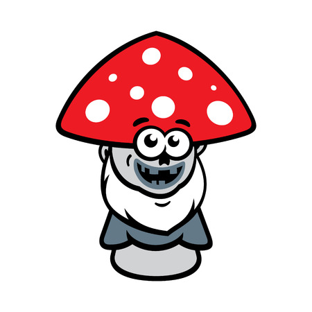 uneatable: Poisonous amanita waits for victims. Isolated on a White Background Illustration