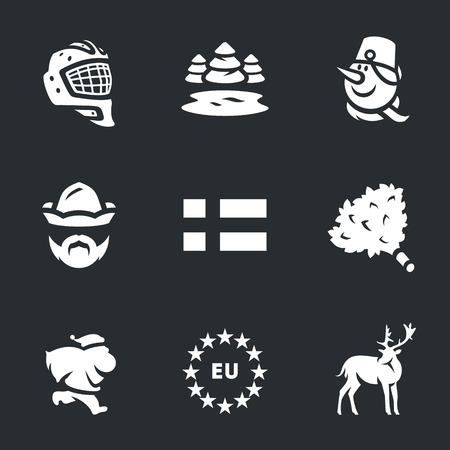 finnish bath: Hockey helmet, nature, snowman, attendant, Finnish flag, bath broom, santa claus, Europe, deer.