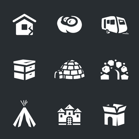 trailers: House, jack, auto trailers, beehive, needle, cave, wigwam, castle, box.