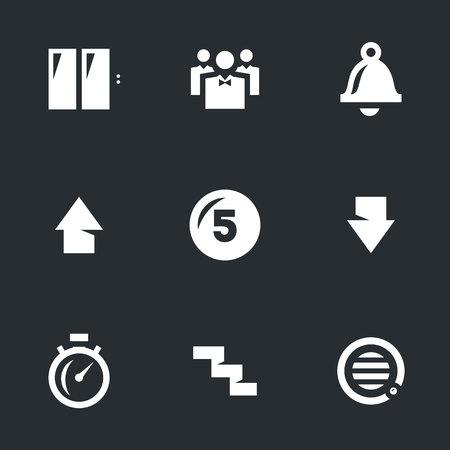 stage door: Doors, passengers, call, rise, button, descent, speed, staircase, intercom.